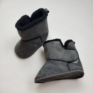 Unisex Gray Stepping Stones Boots 6-9M